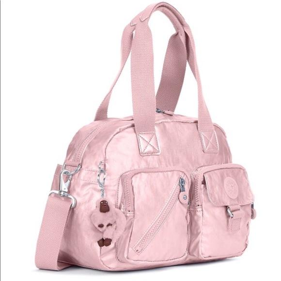 93fb2f31c7 Kipling Bags | Defea Icy Rose Metallic Handbag | Poshmark